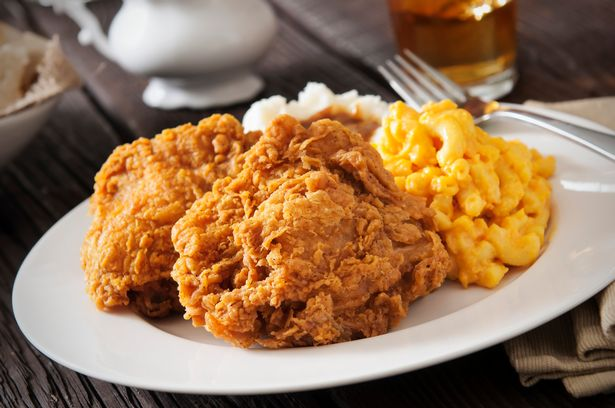 Fried chicken with macaroni cheese is a deep south funeral tradition