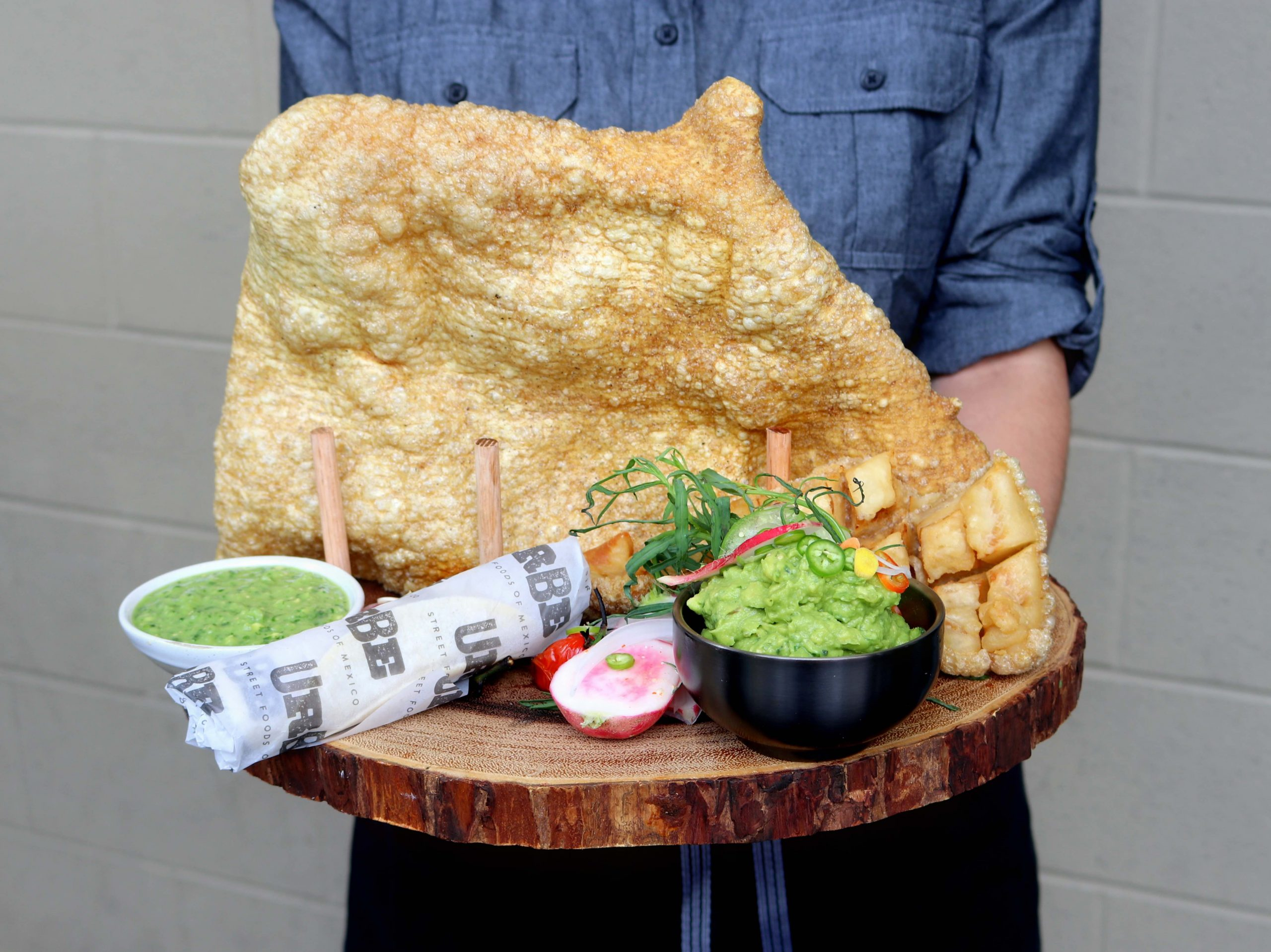 large chicharron with sides